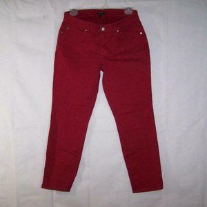 Eileen Fisher Jeans 8P Red Stretch Pockets